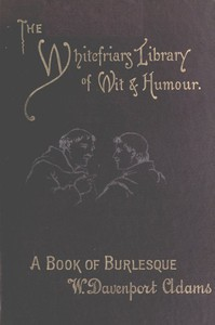 Cover of A Book of Burlesque: Sketches of English Stage Travestie and Parody