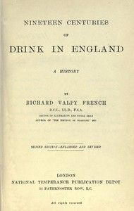 Nineteen Centuries of Drink in England: A History