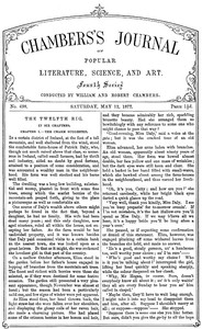 Cover of Chambers's Journal of Popular Literature, Science, and Art, No. 698May 12, 1877