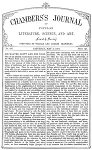 Cover of Chambers's Journal of Popular Literature, Science, and Art, No. 697May 5, 1877