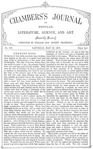 Chambers's Journal of Popular Literature, Science, and Art, No. 699May 19, 1877