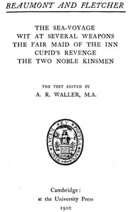 Cover of Beaumont and Fletcher's Works, Vol. 09 of 10