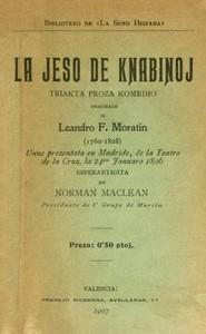 La jeso de knabinoj: Triakta proza komedio (Esperanto)