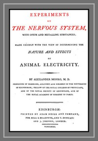 Cover of Experiments on the Nervous System with Opium and Metalline Substances Made Chiefly with the View of Determining the Nature and Effects of Animal Electricity
