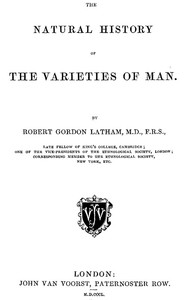 Cover of The Natural History of the Varieties of Man