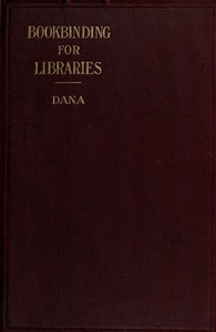 Cover of Notes on Bookbinding for Libraries