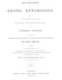 Illustrations of Exotic Entomology, Volume 1