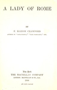 Cover of A Lady of Rome