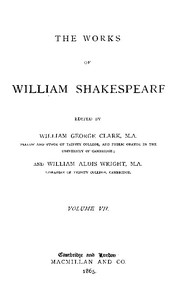 Cover of The Works of William Shakespeare [Cambridge Edition] [Vol. 7 of 9]