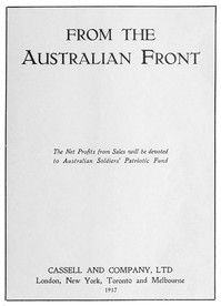 Cover of From the Australian Front