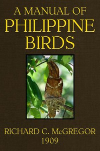 Cover of A Manual of Philippine Birds