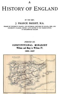 Cover of A History of England, Period III. Constitutional Monarchy