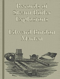 Cover of Records of Steam Boiler Explosions