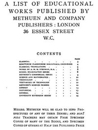 Cover of A List of Educational Works Published by Methuen & Company - June 1900