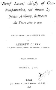 Cover of Brief Lives, Vol. 2