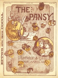 Cover of The Pansy Magazine, August 1886