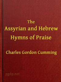 Cover of The Assyrian and Hebrew Hymns of Praise