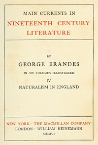 Cover of Main Currents in Nineteenth Century Literature - 4. Naturalism in England