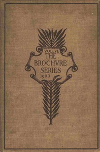 Cover of The Brochure Series of Architectural Illustration, vol. 06, No. 07, July 1900 House of Jacques Coeur: Bourges; Gothic Carved Woodwork