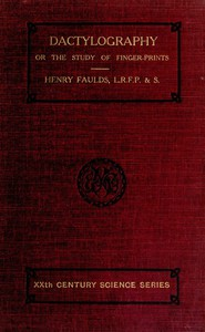 Cover of Dactylography; Or, The Study of Finger-prints