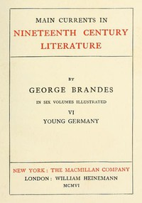 Cover of Main Currents in Nineteenth Century Literature - 6. Young Germany