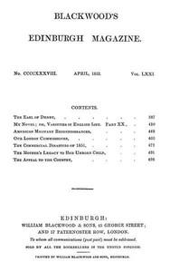 Blackwood's Edinburgh Magazine, Vol. 71, No. 438, April 1852