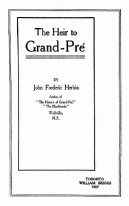 Cover of The Heir to Grand-Pré