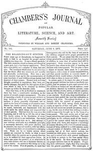 Chambers's Journal of Popular Literature, Science, and Art, No. 702June 9, 1877