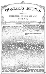 Cover of Chambers's Journal of Popular Literature, Science, and Art, No. 703June 16, 1877
