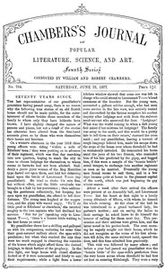 Cover of Chambers's Journal of Popular Literature, Science, and Art, No. 704June 23, 1877