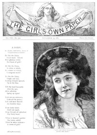 Cover of The Girl's Own Paper, Vol. VIII, No. 359, November 13, 1886