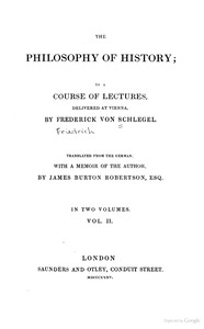 The Philosophy of History, Vol. 2 of 2