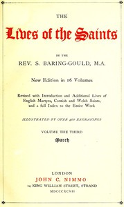 Cover of The Lives of the Saints, Volume 03 (of 16): March