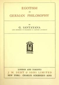 Cover of Egotism in German Philosophy