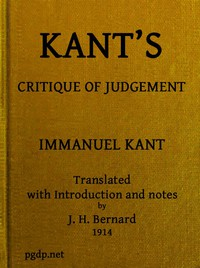 Cover of Kant's Critique of Judgement