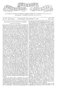 Chambers's Edinburgh Journal, No. 305New Series, Saturday, November 3, 1849
