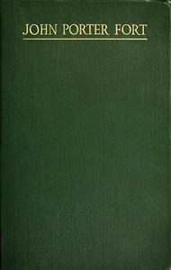 Cover of John Porter Fort: A Memorial, and Personal Reminiscences