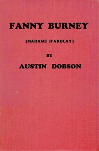 Cover of Fanny Burney (Madame D'Arblay)