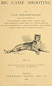 Cover of Big Game Shooting, volume 2 (of 2)