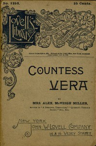 Cover of Countess Vera; or, The Oath of Vengeance