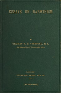 Cover of Essays on Darwinism