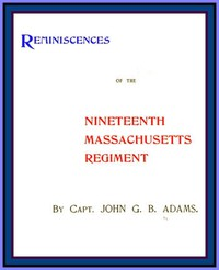 Cover of Reminiscences of the Nineteenth Massachusetts Regiment