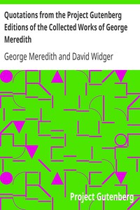Cover of Quotations from the Project Gutenberg Editions of the Collected Works of George Meredith