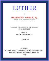 Cover of Luther, vol. 3 of 6