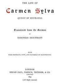 Cover of The Life of Carmen Sylva (Queen of Roumania)