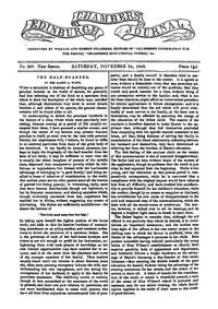 Chambers's Edinburgh Journal, No. 308 New Series, Saturday, November 24, 1849