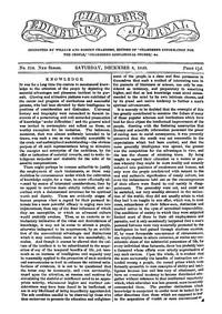 Chambers's Edinburgh Journal, No. 309New Series, Saturday, December 8, 1849