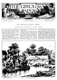 Cover of The Girl's Own Paper, Vol. XX, No. 981, October 15, 1898