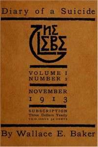 The Glebe 1913/11 (Vol. 1, No. 2): Diary of a Suicide