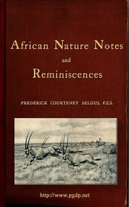 Cover of African Nature Notes and Reminiscences